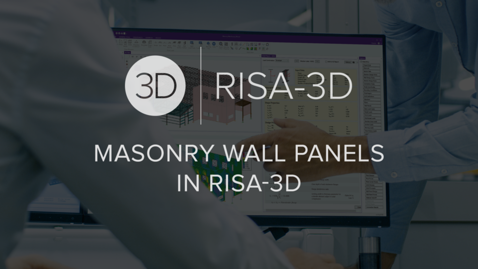 Masonry Wall Panels in RISA 3 D