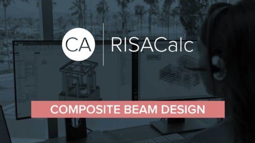 RISA Calc composite beam Cover You Tube 1