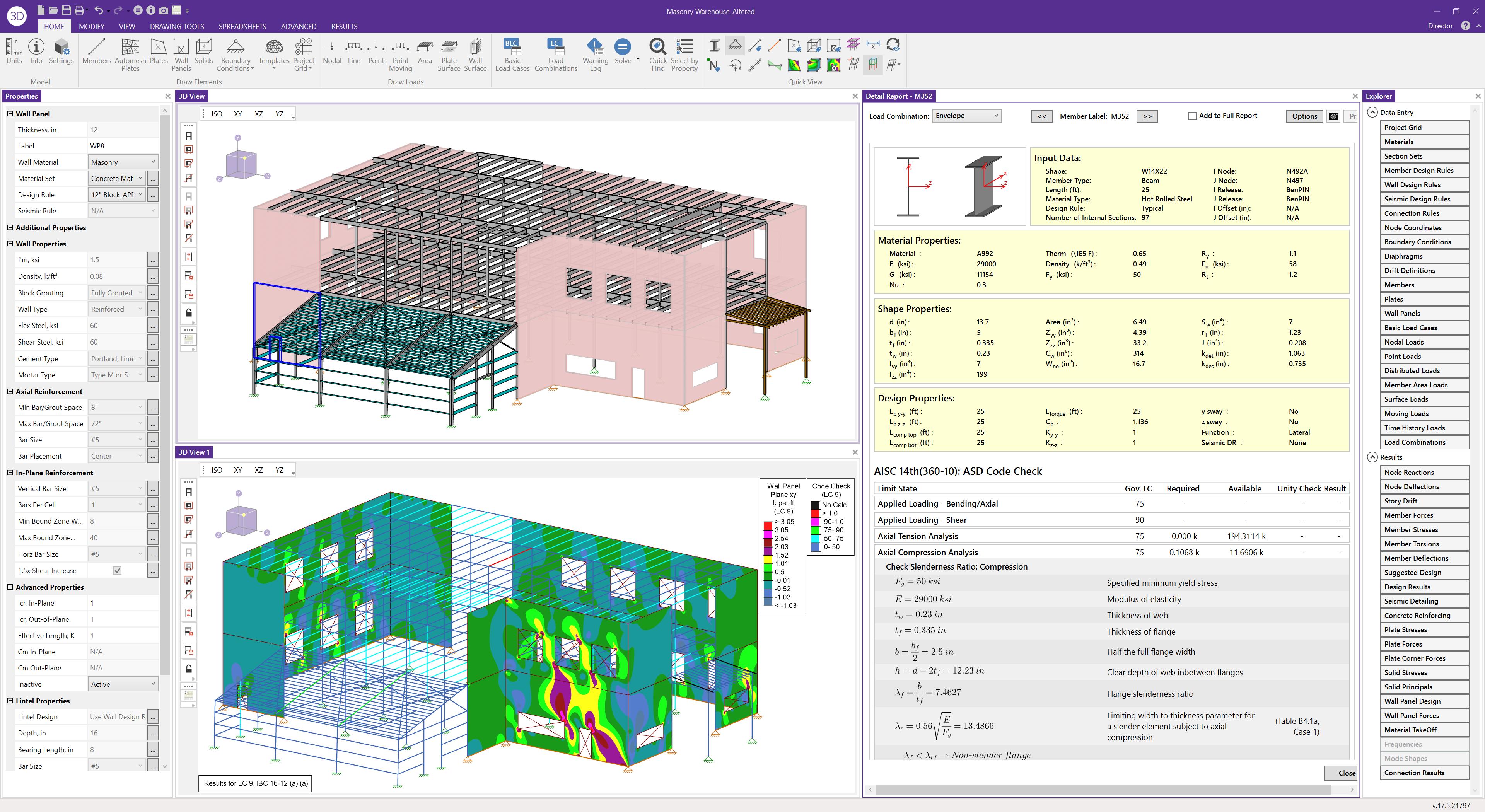 RISA-3D screenshot