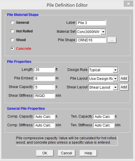 1 Pile Definition Editor