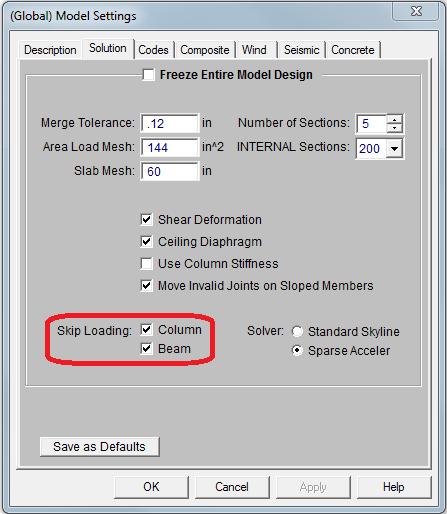Global parameters skip
