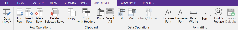 Spreadsheet 1a