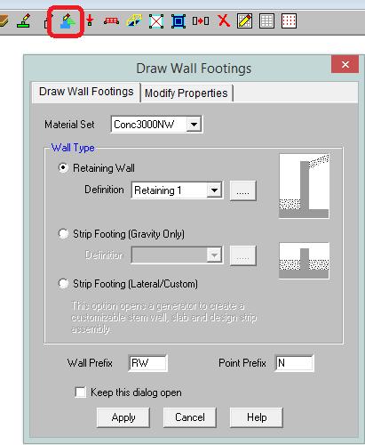 Wall footing 01
