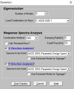 Dynamic Analysis - Response Spectra