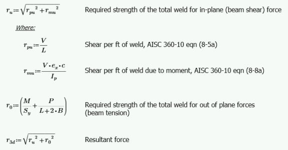 Weld Calculations