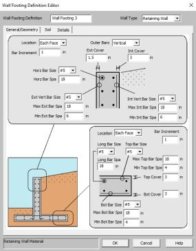 Wall Footing Definitions