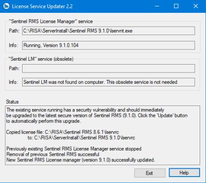 License Service Updater